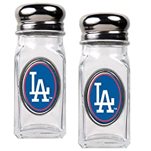 MLB Los Angeles Dodgers Salt and Pepper Shaker Set with Crystal Coat