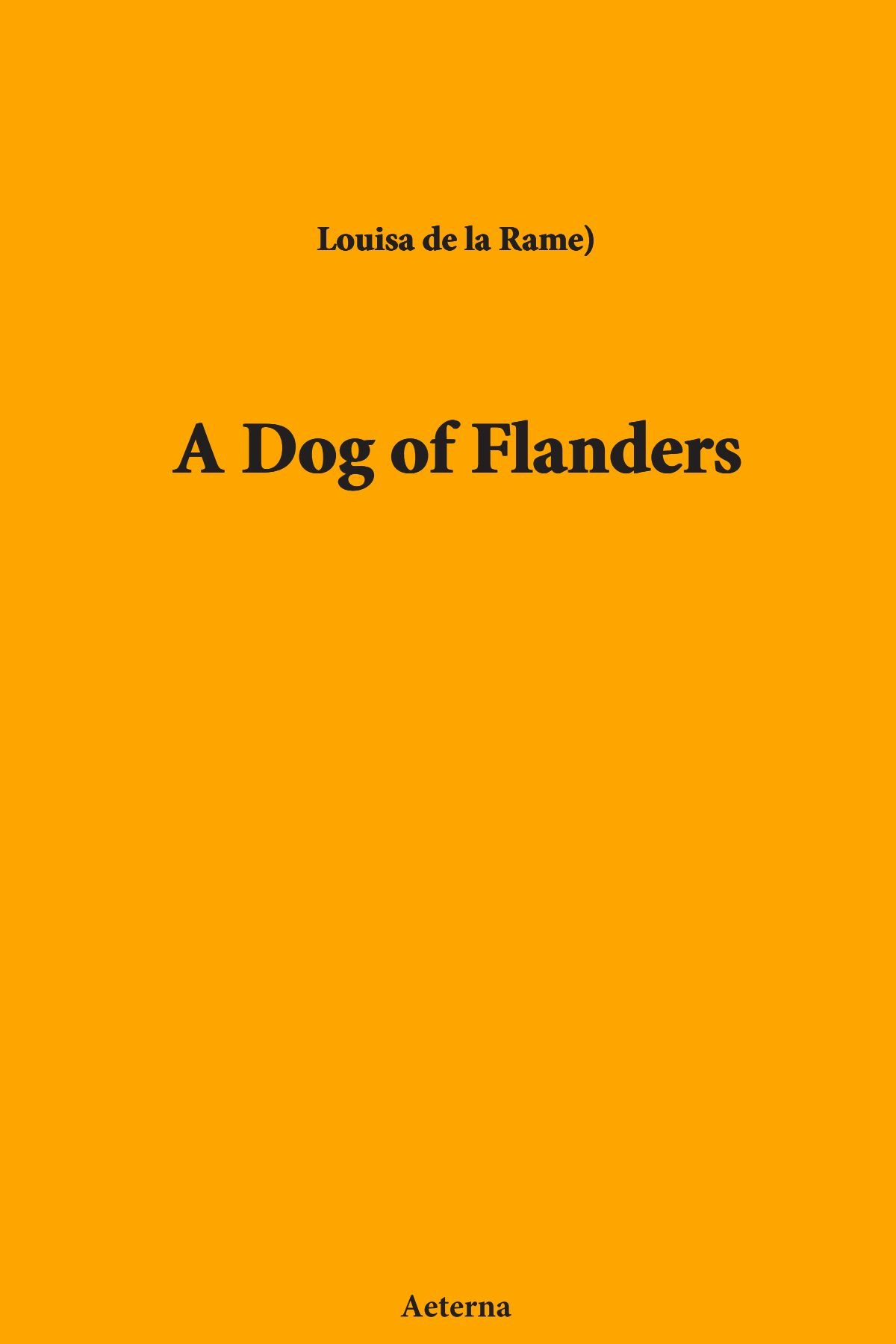 Download A Dog of Flanders PDF