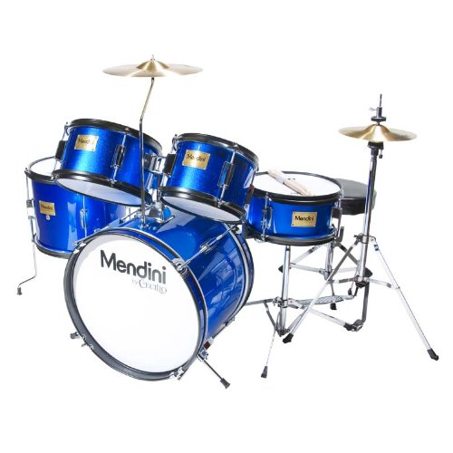 Amazon Com Mendini 5 Drum Set Blue 16 Inch Mjds 5 Bl Musical