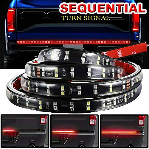 SIZZLEAUTO Truck Tailgate Light Bar 60
