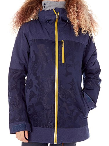 Roxy Peacoat Torah Bright Stormfall Womens Snowboarding Jacket (Xs, Black)