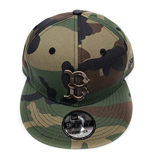 New Era 9Fifty Army Camo Capped Adjustable Snapback Hat (Boston Red Sox)