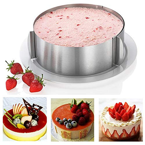 16-30CM Retractable Stainless Steel Circle Mousse Ring Baking Tool Set Cake Mold Size Adjustable Bakeware decorating supplies