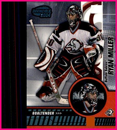 Ryan Miller Buffalo - 2003-04 Pacific Invincible BLUE #10 Ryan Miller BUFFALO SABRES SERIAL #164/350 CANUCKS