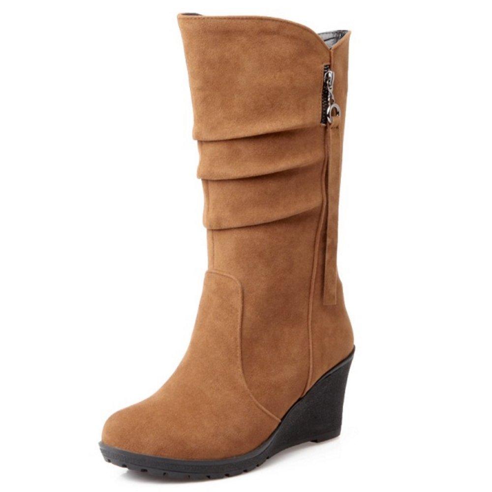 Zanpa Femmes Chaussures Chaussures B07G4KQ1XC Mode Compenses Femmes Moyens Bottes brown 79fc3f2 - avtodorozhniks.space