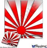 Sony PS3 Slim Skin - Rising Sun Japanese Red