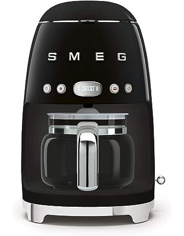 Smeg DCF02BLUK Drip Coffee Machine, 10 Cup Capacity, Auto-Start Mode, Reuseable Filter, Digital Display, Anti-Drip System, Aroma Intensity Option, 1.4 Litre Tank, Black