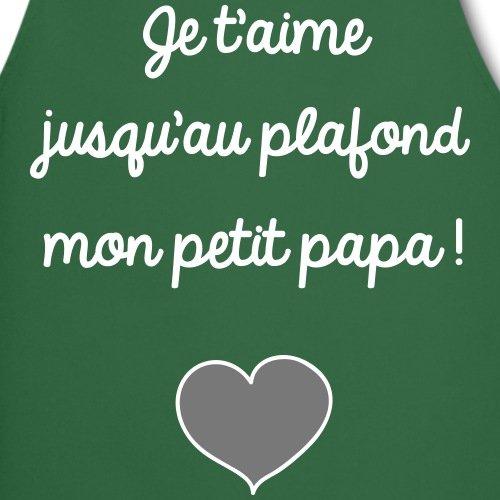 Spreadshirt Je TAime Papa D/éclaration DAmour Tablier