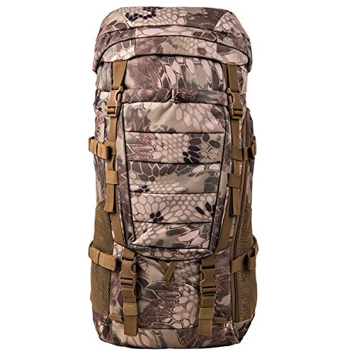 Montañismo bolsa mochila bolsa de viaje Mochila al aire libre senderismo bolsa bolsa impermeable hombres y mujeres bolsa de 80 litros Bolsa de gran capacidad Q E