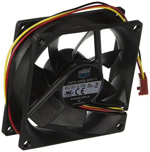 Cooler Master Rifle Bearing 80mm Silent Cooling Fan for Computer Cases and CPU Coolers ()