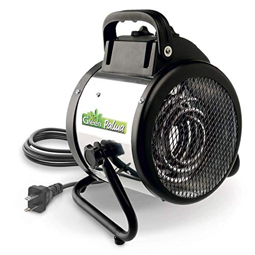Patton Electric Thermostat Heater - Bio Green PAL 2.0/US Palma Basic Electric Fan Heater for Greenhouses, 2 Year Warrenty