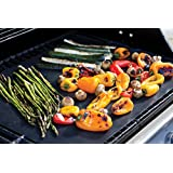 BBQ Grill Mat Non-stick Pad Sheet Reusable Barbecue Grilling Accessories Tool Works on Gas Charcoal Ovens Electric Grills - Cut to Size