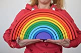 Mega Wooden Rainbow XXL the best Handmade eco friendly toy for babies