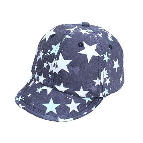 Leisial Niños Gorras de Béisbol Algodón Sombreo del Sol Estrella de Cinco  Puntas Borde Suave Protector 3d00ca691a3