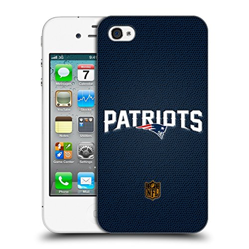 Official NFL Football New England Patriots Logo Hard Back Case for Apple iPhone 4 / 4S - Nfl Iphone 4 Case