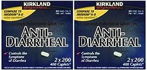 Anti-Diarrheal Loperamide Hydrochloride 2 mg 800 Caplets Total (Pack of 4)