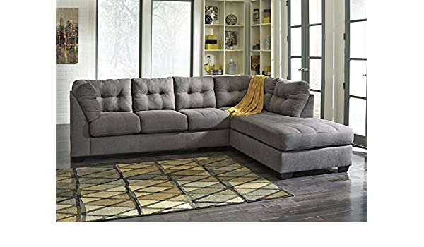 Brilliant Amazon Com The Roomplace Marlo Charcoal 2 Pc Sectional Theyellowbook Wood Chair Design Ideas Theyellowbookinfo