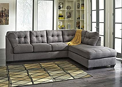 Enjoyable Amazon Com The Roomplace Marlo Charcoal 2 Pc Sectional Theyellowbook Wood Chair Design Ideas Theyellowbookinfo