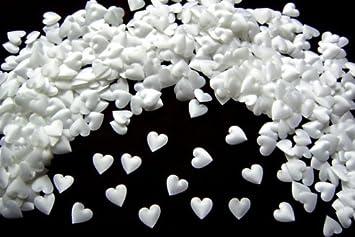 Herzen 50 edle Perlenherzen weiß Streudeko Hochzeit Tischdeko