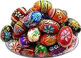 Polish Easter Handpainted Wooden Eggs (Pisanki), Set of 6