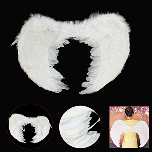 SICA Angel Fairy Wings Fancy Dress Costume Feather Outfit Large Adult White (Xmen Fancy Dress)