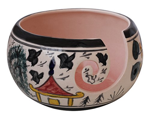 Ceramic Yarn Bowl for Knitting, Crochet for Moms - Beautiful Gift on All Occasions. A Perfect Gift for Moms and Grandmothers (Big Yarn_22)