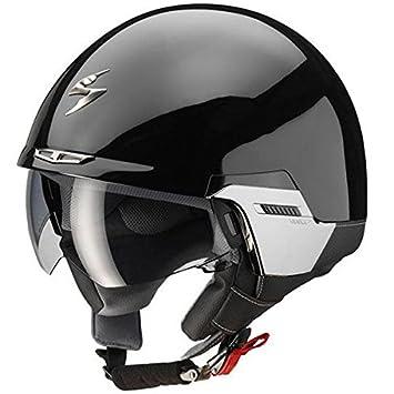 Scorpion Exo 100 Padova Brillo Negro Motocicleta Casco Tamano L