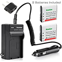 Kastar CNP-40 Battery (2-Pack) and Charger Kit for Kodak LB-060 AZ521 AZ361 AZ501 AZ522 AZ362 AZ526 and HP D3500 SKL-60 V5060H V5061U Cameras