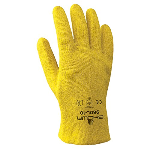 SHOWA 960 KPG Fully Coated PVC Glove, Seam-Free Cotton Knit Liner, General Purpose Work, Large (Pack of 12 ()