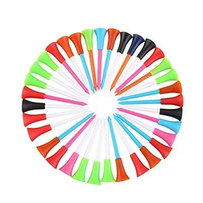 NUOLUX Golf Tees 100pcs 85mm Plastic Rubber Cushion Top Random Color
