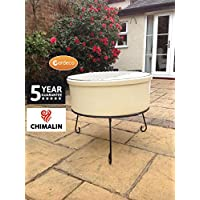 Gardeco Atlas Fire Pit, Natural, 75x75x60 cm