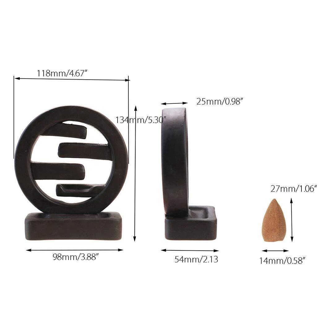 lantusi Backflow Ceramic Incense Burner Holder Home Office Incense Holders by lantusi (Image #7)