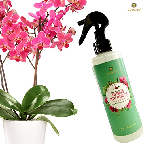Orchid Spray Fertilizer - Plant Food Mist - Enhances Growth, Provides Food, Nutrients and Moisture - No Mixing or Diluting Needed, Ready to Use Formula - for Indoor Potted Plants & Terrariums