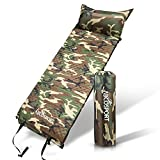 Self-Inflating Sleeping Pad With Pillow – Waterproof lightweight Foam Padding – For Hiking – Camping or Outdoor Activity