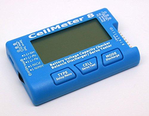 - T-Trees RC CellMeter-8 1-8S Battery Capacity Voltage Checker Meter LiPo Li-lon NiMH