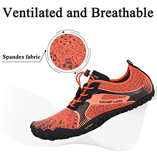 6a783787cd3 Mens Womens Barefoot Gym Walking Trail Beach Hiking Wide Toe Box Water Shoes  Aqua Sports Pool