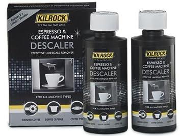 Descalcificador Kilrock para máquinas de café, 2 botellas de 150 ml cada una: Amazon.es: Hogar