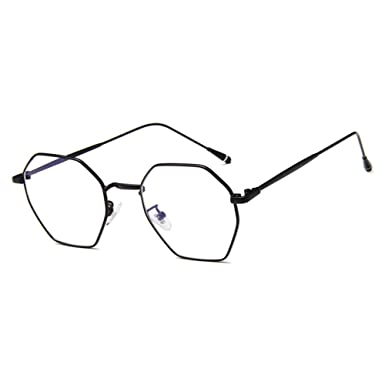 1274614039 Men Women Polygon Glasses - Clear Lens Glasses Frame - Fashion Eyeglasses  Eyewear - hibote  122909  Amazon.co.uk  Clothing