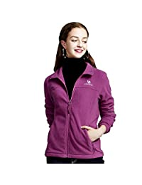 CAMEL Crown Polar Fleece Jackets Women Full Zip Coat - Warm, Lightweight