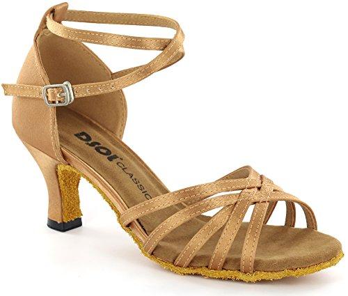 dsol de la mujer latina zapatos de baile dc261303/dc261305 canela
