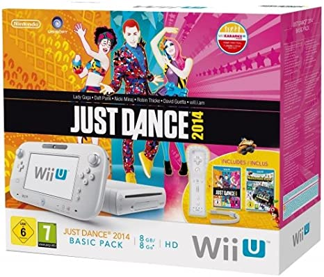 Wii U - Console 8 Gb, Bianco Con Barra Sensore, Just Dance 2014 E ...