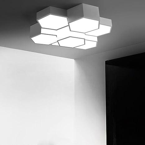 Lámpara LED de techo Panal hexagonal Forma moderna Fácil ...