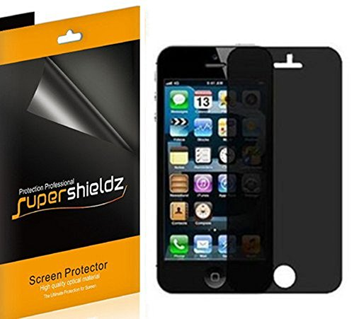 (2 Pack) Supershieldz (Privacy) Anti Spy Screen Protector Shield for iPhone SE, iPhone 5S, iPhone 5, and iPhone 5C (Best Privacy Screen Protector For Iphone 5s)