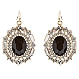 Exquisite Beautiful Crystal Rhinestone Dangle Bridal Fashion Earrings E738 Black
