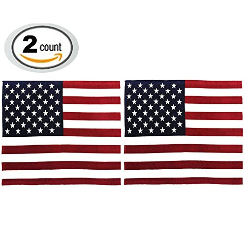 Decorative Flag Pillow (2 Packs American Flag Pillow Cover,Decorative Soft Pillows Protector Velvet Sofa Throw Pillows Case 16 x 16 Inch for Independence Day (USA, No Pillow Insert))