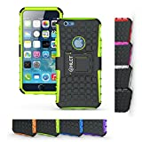 iPhone 6s Case, HLCT Rugged Shock Proof Dual-Layer Case with Built-In Kickstand for iPhone 6s / 6 4.7 Inch (Green)