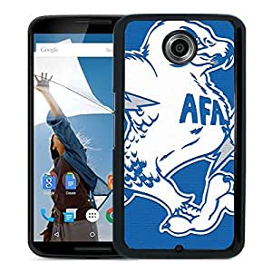 NCAA Air Force Falcons 12 Black Google Nexus 6 Protective Phone Cover Case