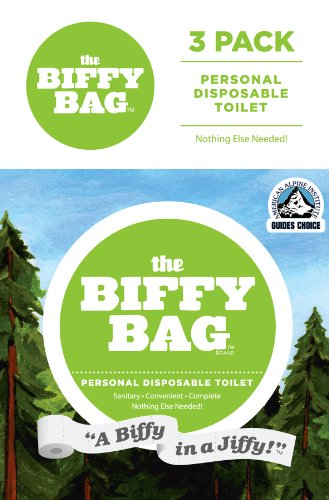 Biffy Bag Pocket Size Disposable Toilet (Pack of 3) , Classic