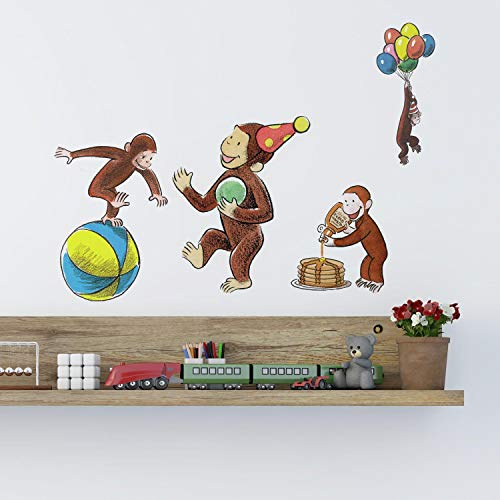 (RoomMates Curious George Storybook Peel And Stick Wall Decals)