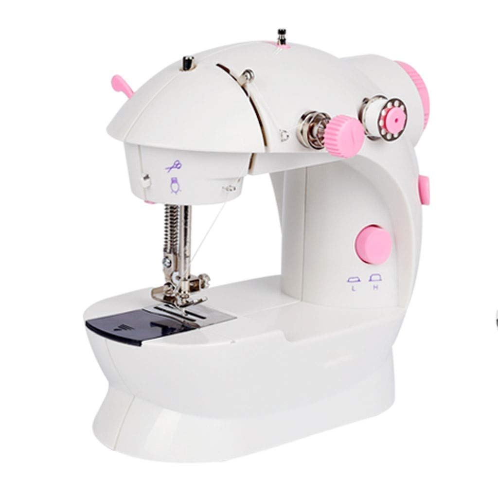 JLL Mini Sewing Machine with Extension Table (Color : Pink) by JLL